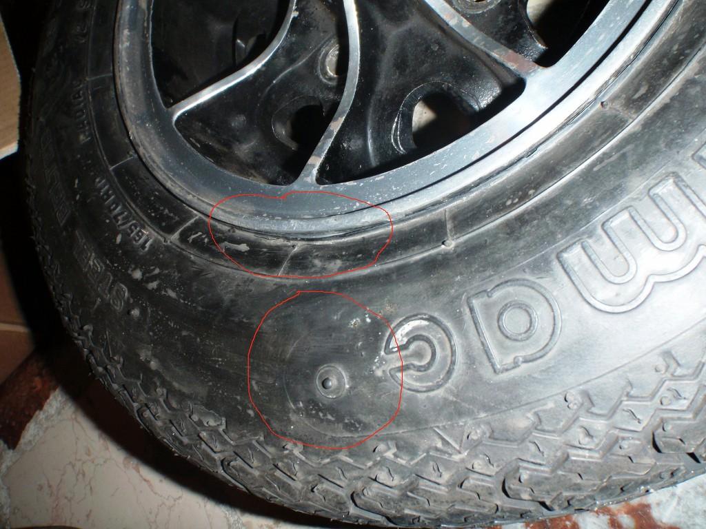 Delle im Reifen