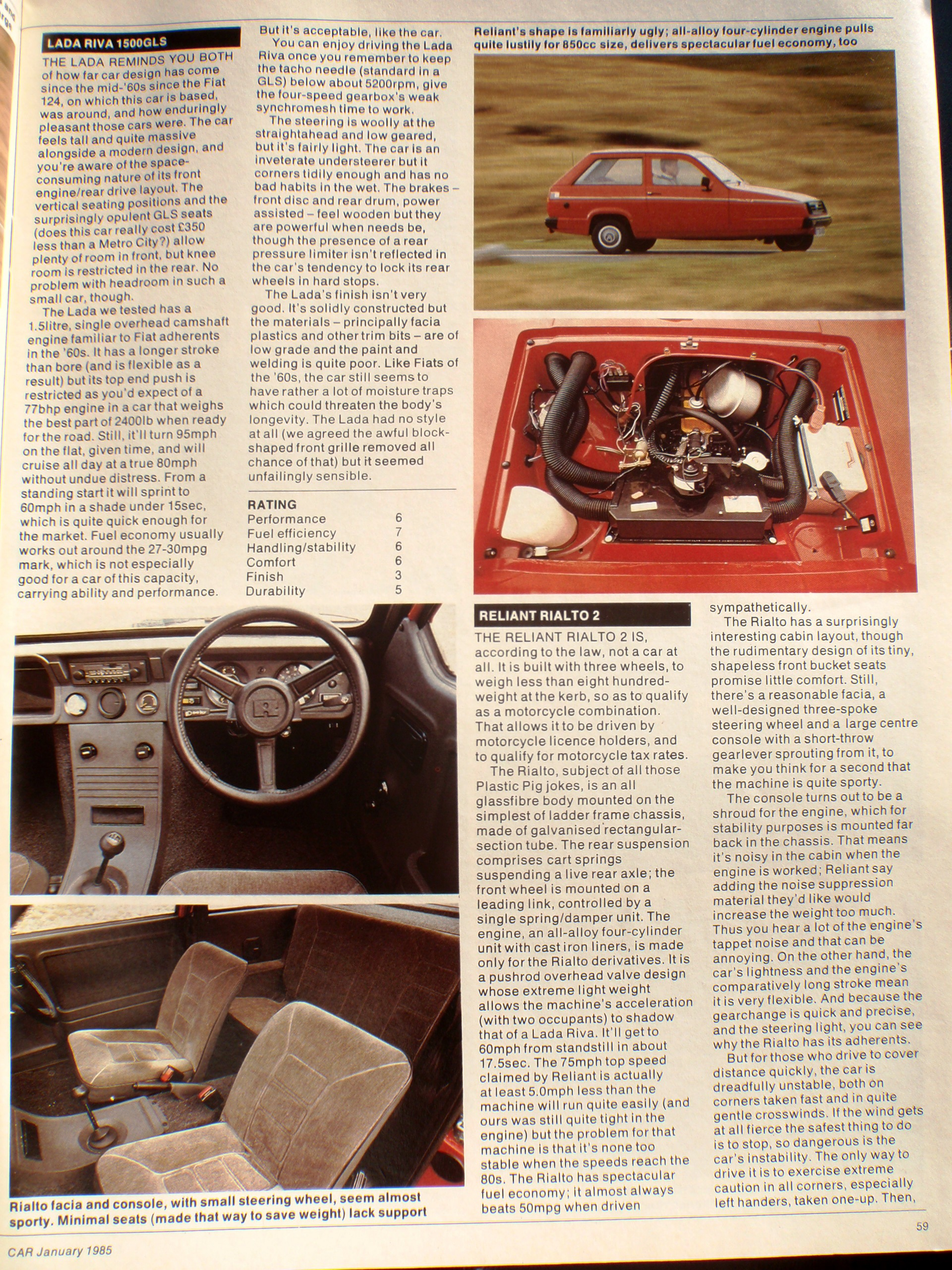 Reliant Rialto 2 LS Test CAR 01/85 Page 2