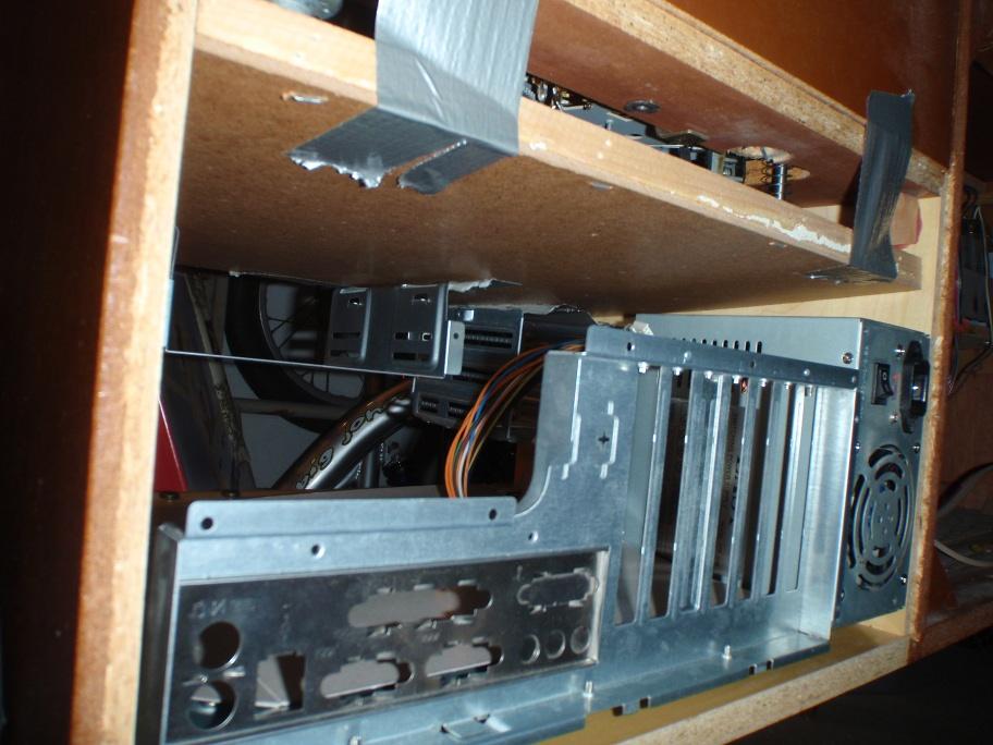 Multimedia-Truhe PC-Gehäusekomponenten Probeeinbau