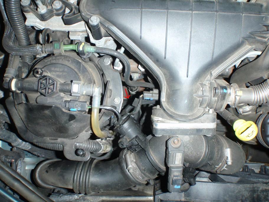 Ölfilter Position im Motorraum