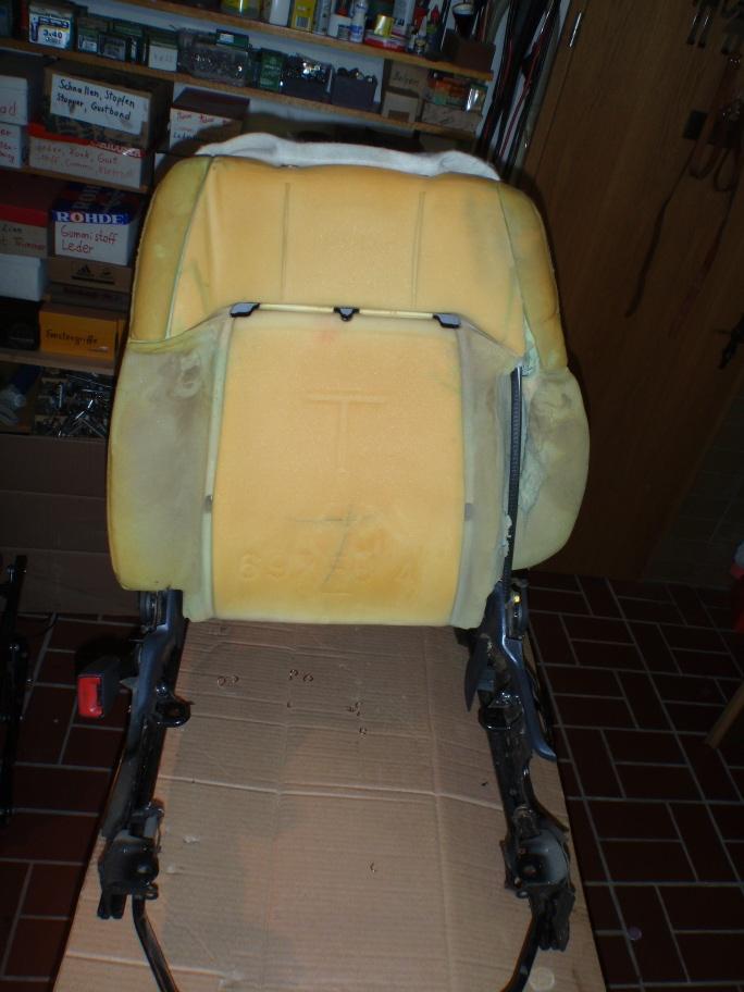 Sitzkonsole ausgebaut