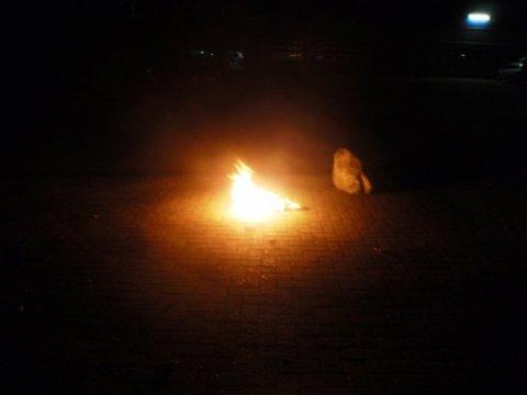 Bremsenreinigerlappen brennt romantisch in Ankum