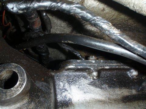 Ölschmier am Getriebe