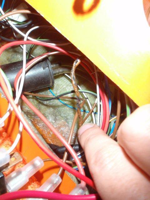 Kabel verschmort