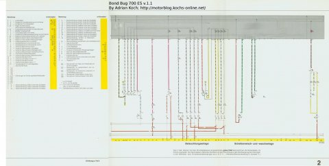 Stromlaufplan Bond Bug Neu Teil 2 v.1.0