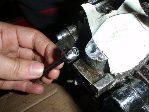 Reparaturgewinde auf Werkzeug