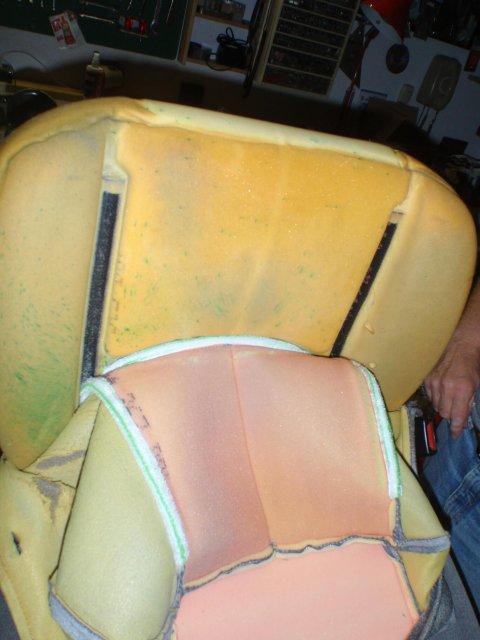 Klettstreifen am Sitzpolster