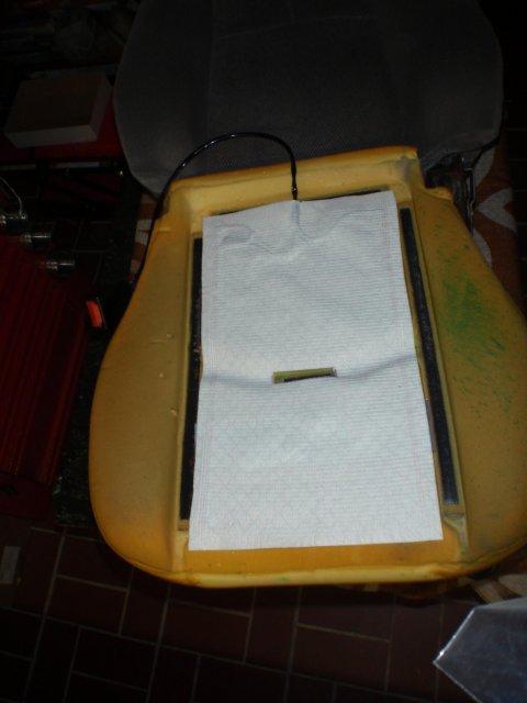 Sitzauflage zugeschnitten
