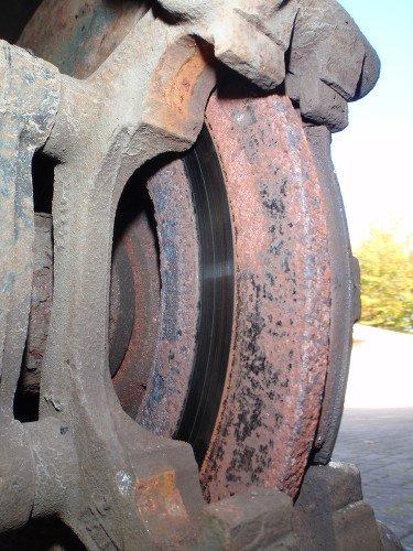 Bremsscheibe verrostete Rückseite