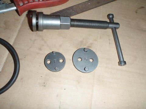 Adapterplatten Nr. 6 und F für Opel