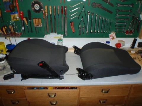 Lehne und Sitzfläche getrennt