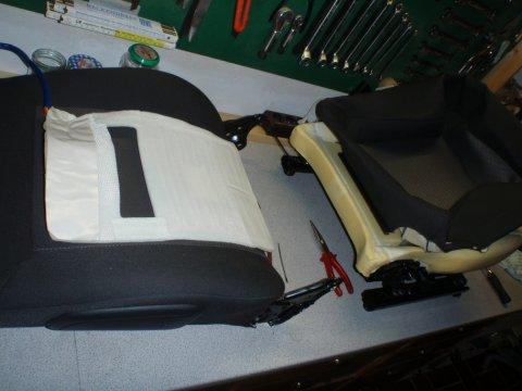 Heizung Sitzfläche bereitgelegt
