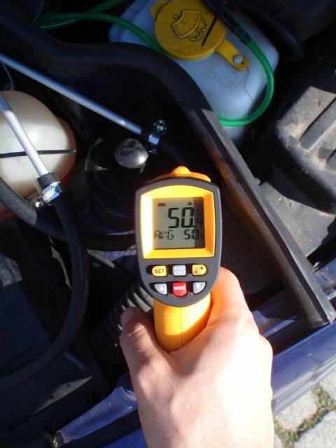 Testfahrt mit losem Aufbau 50°C
