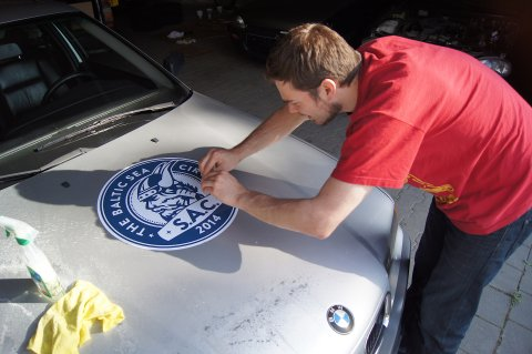 Affixing Stickers