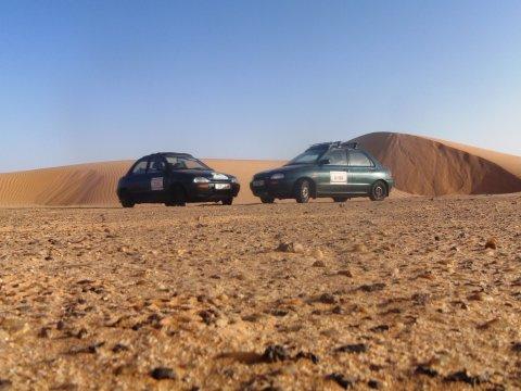 Unsere Eier in der Wüste