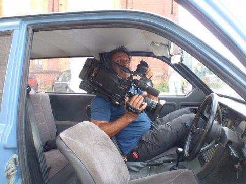 Kameramann etwas beengt