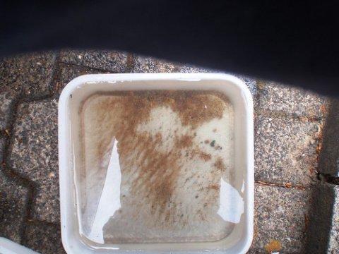 Sedimente im Kühlwasser