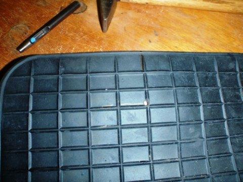 Fußmatte zuschneiden