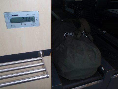 Gepäckaufgabe