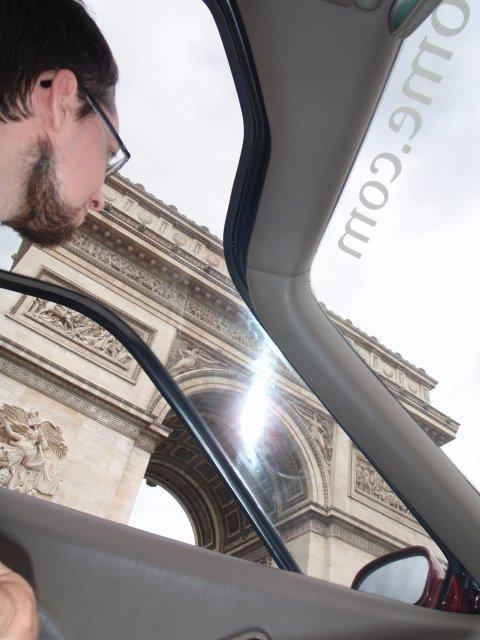 Triumphbogen durchs Glasdach
