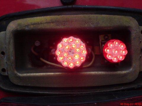 LED-Rücklichter Vergleichstest 002 eingebaut an
