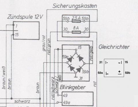 Brueckengleichrichter Umbau Schaltplan