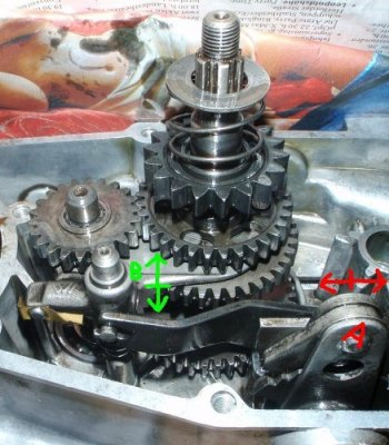 Simson Duo 4-1 M53 Getriebe 066 markiert
