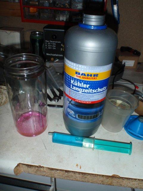 Kühlmittel blau