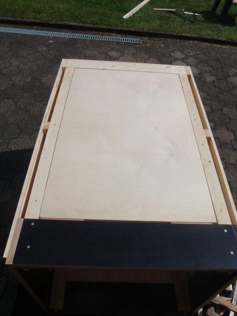 Räucherhäuschen Tür Grundplatte