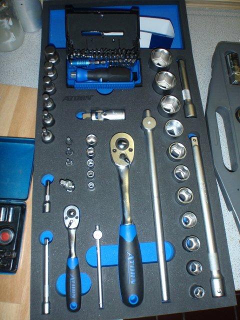 ATORN Modul-Hartschaumeinlage Steckschlüsselsatz 1/2 Inch-1/4 Inch 293x587x31mm