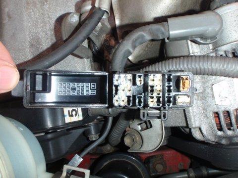 Toyota OBD 1 Diagnosebuchse offen