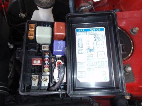 Toyota OBD Fehlercodes löschen EFI Sicherung