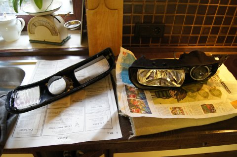 Disassembled Head Lamp