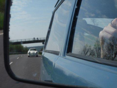 356 Speedster im Rückspiegel