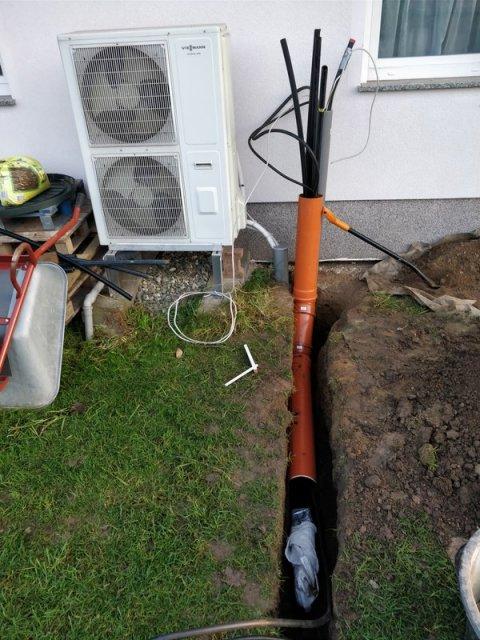 Leitungen zum Grundstück