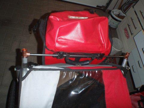 Gepäcktasche montiert