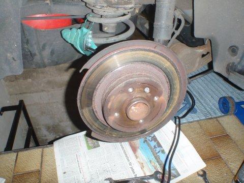 Opel Combo | Bremsanlage hinten | alte Bremsscheibe