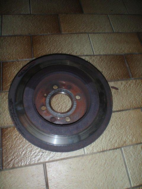 Opel Combo | Bremsanlage hinten | alte Bremsscheibe ausgebaut