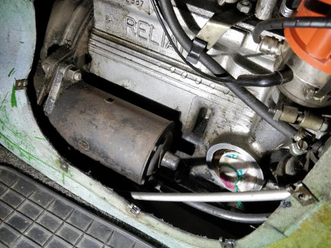 Anlasser eingebaut