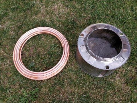 Kupferspirale und Trommel
