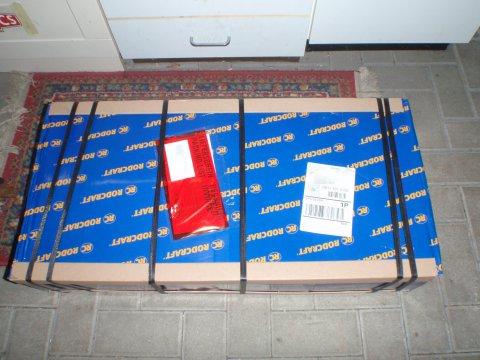 Wagenheber verpackt