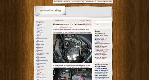 Blog altes Design