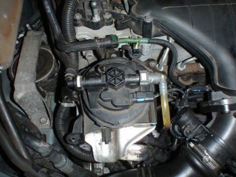 Dieselfilter eingesteckt